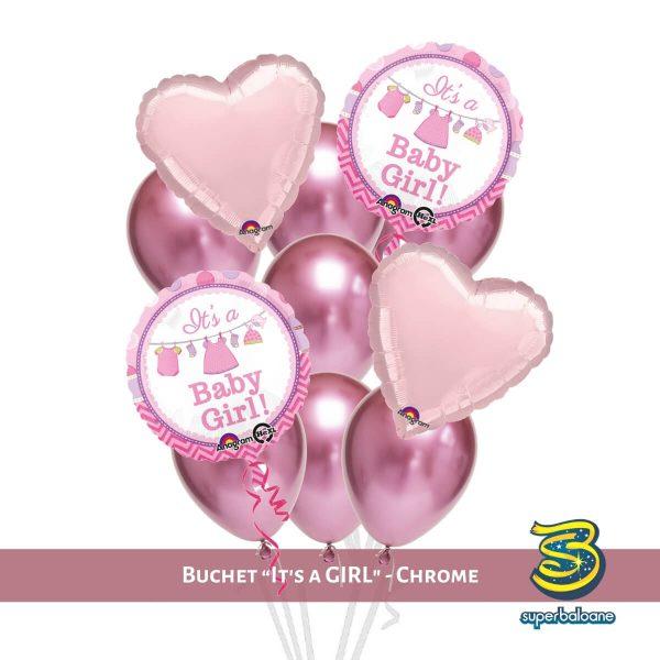 Baloane botez I Baloane cu heliu I Baloane roz